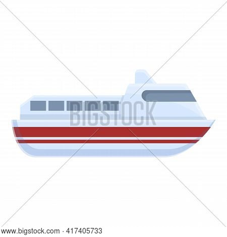 Ferry Course Icon. Cartoon Of Ferry Course Vector Icon For Web Design Isolated On White Background
