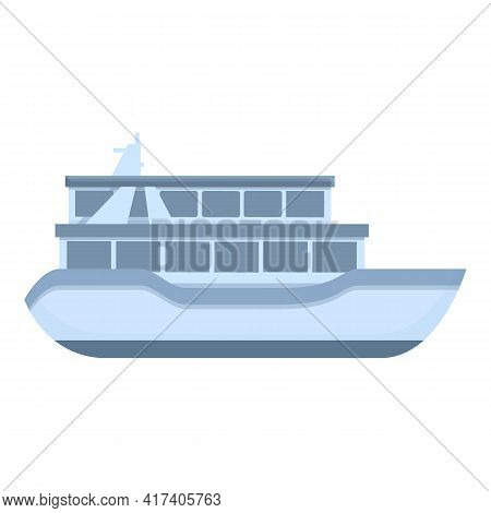 Small Ferry Icon. Cartoon Of Small Ferry Vector Icon For Web Design Isolated On White Background