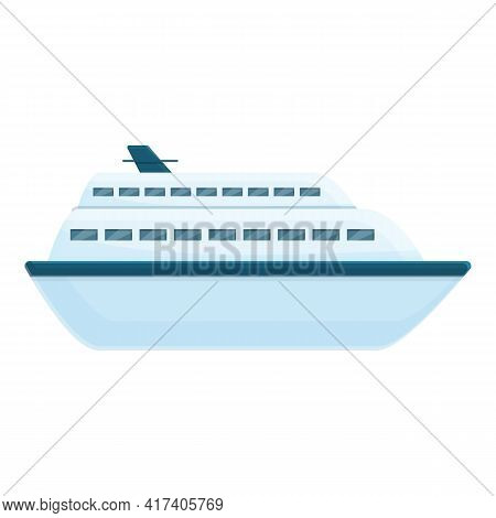 Maritime Ferry Icon. Cartoon Of Maritime Ferry Vector Icon For Web Design Isolated On White Backgrou