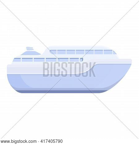 Vacation Ferry Icon. Cartoon Of Vacation Ferry Vector Icon For Web Design Isolated On White Backgrou