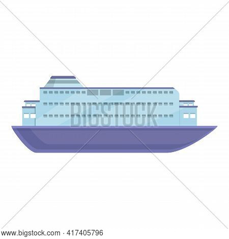 Vacation Cruise Liner Icon. Cartoon Of Vacation Cruise Liner Vector Icon For Web Design Isolated On