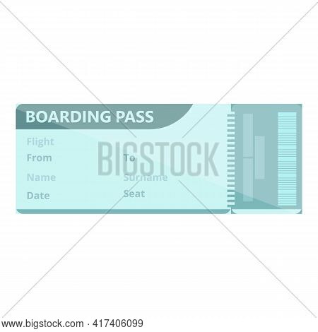 Tour Boarding Pass Icon. Cartoon Of Tour Boarding Pass Vector Icon For Web Design Isolated On White
