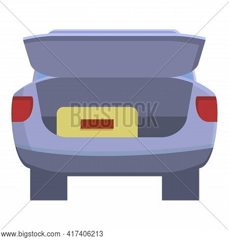 Trunk Car Icon. Cartoon Of Trunk Car Vector Icon For Web Design Isolated On White Background
