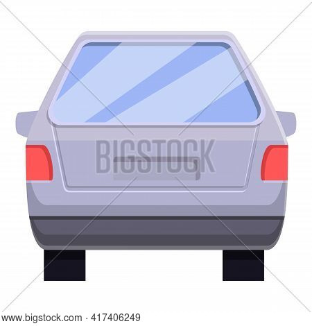 Big Trunk Car Icon. Cartoon Of Big Trunk Car Vector Icon For Web Design Isolated On White Background