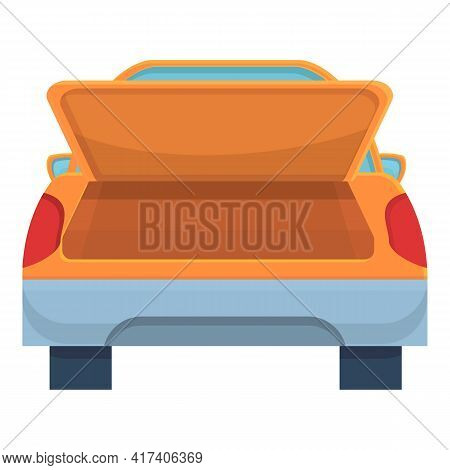 Door Trunk Car Icon. Cartoon Of Door Trunk Car Vector Icon For Web Design Isolated On White Backgrou