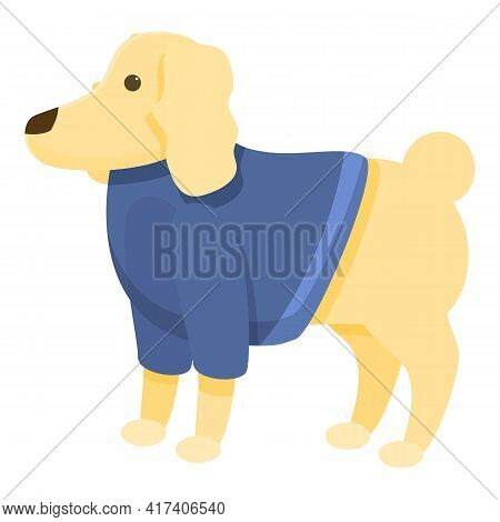 Costume Dog Clothes Icon. Cartoon Of Costume Dog Clothes Vector Icon For Web Design Isolated On Whit
