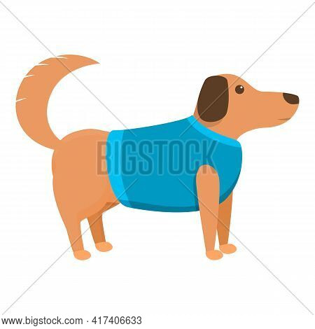 Wool Dog Clothes Icon. Cartoon Of Wool Dog Clothes Vector Icon For Web Design Isolated On White Back
