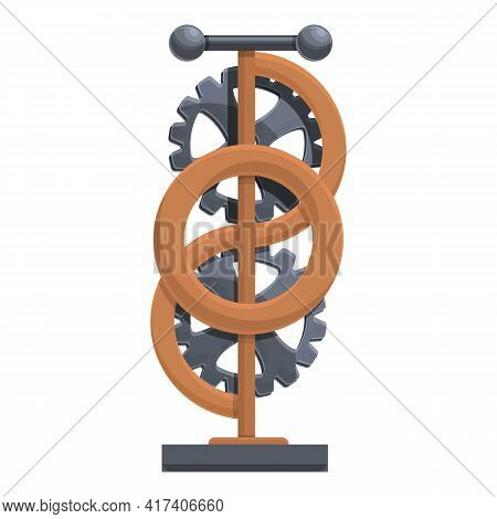Perpetual Motion Double Wheel Icon. Cartoon Of Perpetual Motion Double Wheel Vector Icon For Web Des