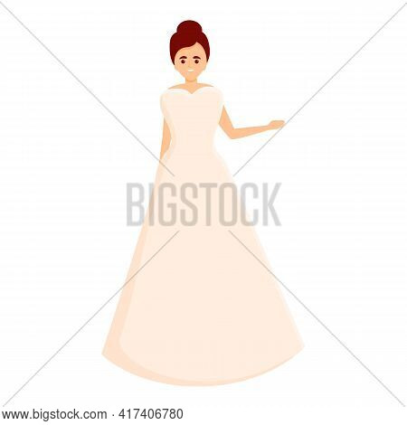 Accessories Wedding Dress Icon. Cartoon Of Accessories Wedding Dress Vector Icon For Web Design Isol