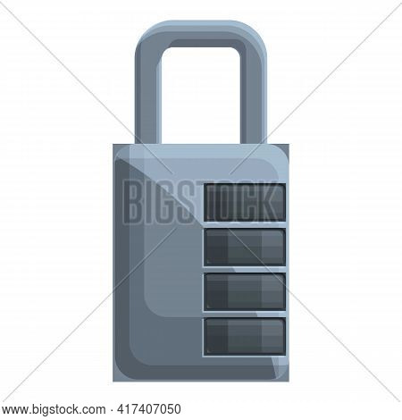 Cipher Padlock Icon. Cartoon Of Cipher Padlock Vector Icon For Web Design Isolated On White Backgrou