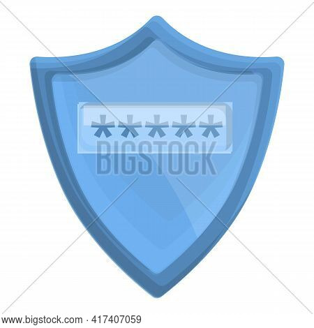 Cipher Shield Icon. Cartoon Of Cipher Shield Vector Icon For Web Design Isolated On White Background