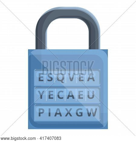 Coding Padlock Icon. Cartoon Of Coding Padlock Vector Icon For Web Design Isolated On White Backgrou