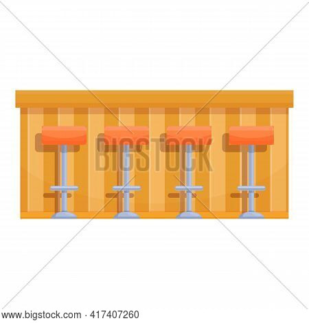Cafetaria Bar Counter Icon. Cartoon Of Cafetaria Bar Counter Vector Icon For Web Design Isolated On