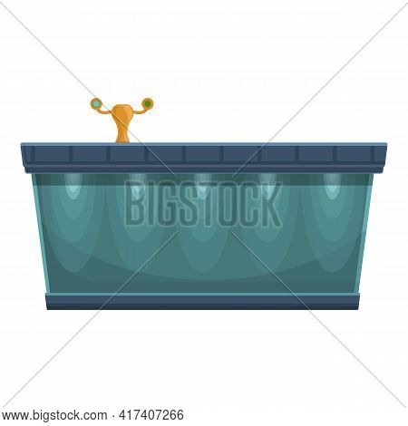 Glass Bar Counter Icon. Cartoon Of Glass Bar Counter Vector Icon For Web Design Isolated On White Ba