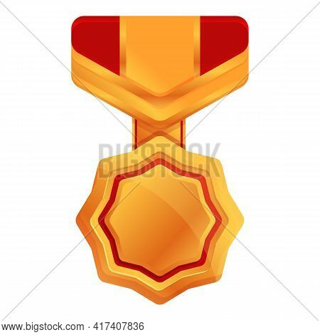 Ranking Medal Icon. Cartoon Of Ranking Medal Vector Icon For Web Design Isolated On White Background