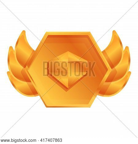 Ranking Gold Diamond Icon. Cartoon Of Ranking Gold Diamond Vector Icon For Web Design Isolated On Wh