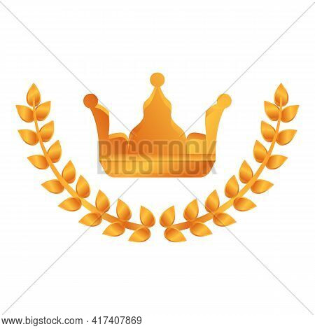 Ranking Laurel Crown Icon. Cartoon Of Ranking Laurel Crown Vector Icon For Web Design Isolated On Wh