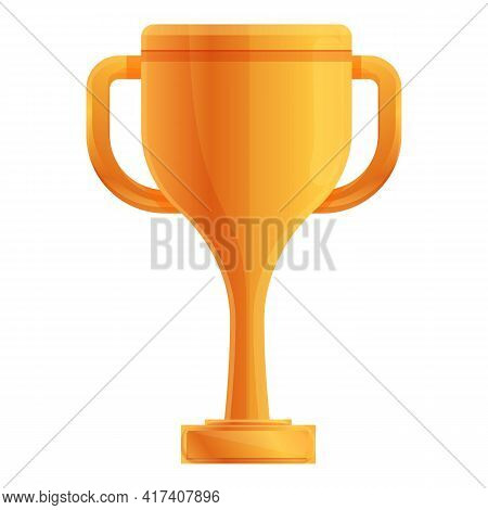 Ranking Gold Cup Icon. Cartoon Of Ranking Gold Cup Vector Icon For Web Design Isolated On White Back