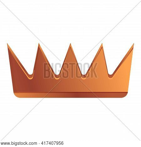 Bronze Crown Ranking Icon. Cartoon Of Bronze Crown Ranking Vector Icon For Web Design Isolated On Wh