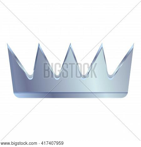 Silver Crown Ranking Icon. Cartoon Of Silver Crown Ranking Vector Icon For Web Design Isolated On Wh
