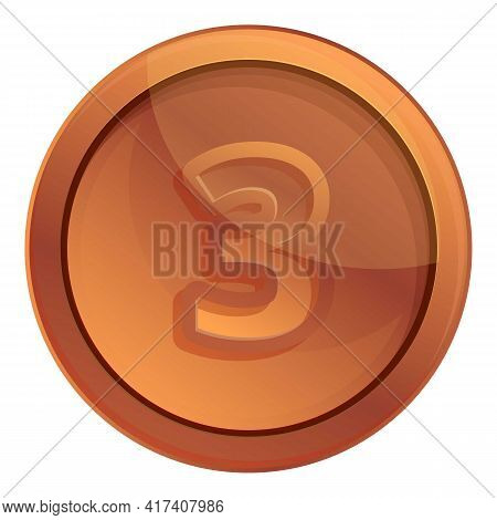 Bronze Medal Icon. Cartoon Of Bronze Medal Vector Icon For Web Design Isolated On White Background