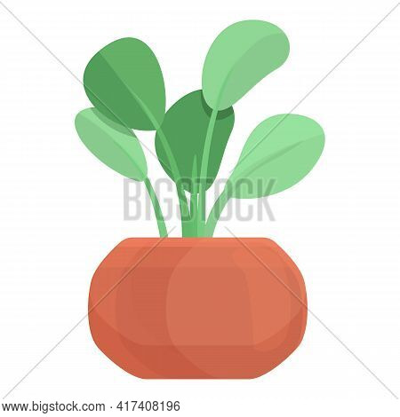 Blossom Plant Pot Icon. Cartoon Of Blossom Plant Pot Vector Icon For Web Design Isolated On White Ba