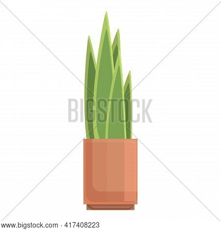 Floristic Plant Pot Icon. Cartoon Of Floristic Plant Pot Vector Icon For Web Design Isolated On Whit