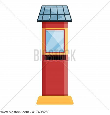 Paid Parking Tower Icon. Cartoon Of Paid Parking Tower Vector Icon For Web Design Isolated On White
