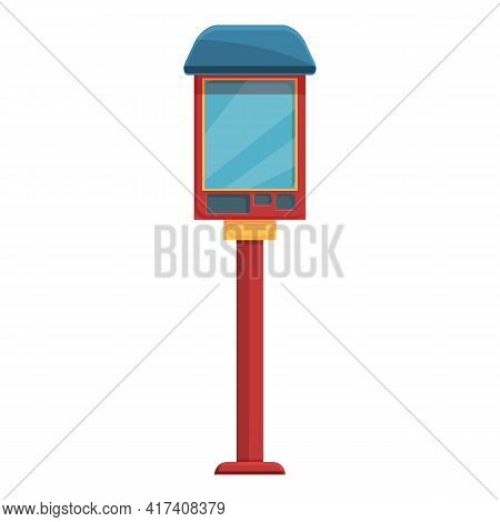 Paid Parking Payment Terminal Icon. Cartoon Of Paid Parking Payment Terminal Vector Icon For Web Des