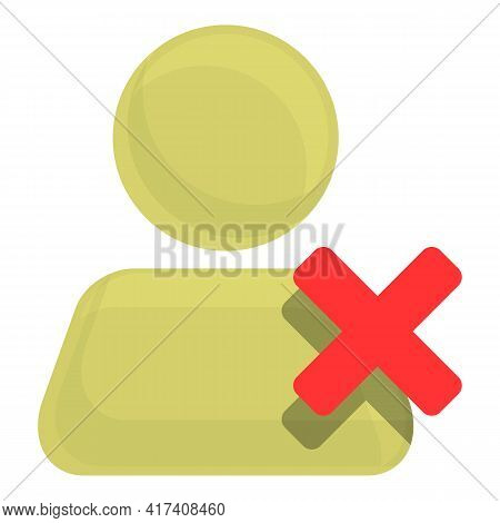 Delete User Call Icon. Cartoon Of Delete User Call Vector Icon For Web Design Isolated On White Back