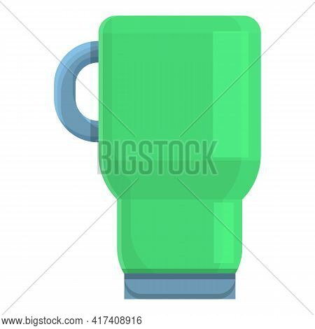 Coffee Thermo Cup Icon. Cartoon Of Coffee Thermo Cup Vector Icon For Web Design Isolated On White Ba