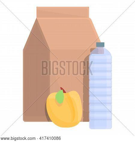School Breakfast Icon. Cartoon Of School Breakfast Vector Icon For Web Design Isolated On White Back