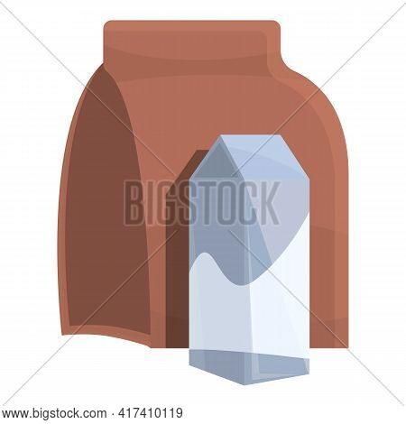 School Breakfast Pack Icon. Cartoon Of School Breakfast Pack Vector Icon For Web Design Isolated On