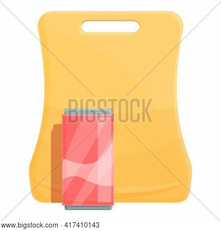 School Breakfast Soda Tin Icon. Cartoon Of School Breakfast Soda Tin Vector Icon For Web Design Isol