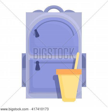 School Breakfast Coffee Cup Icon. Cartoon Of School Breakfast Coffee Cup Vector Icon For Web Design