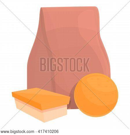 School Breakfast Orange Icon. Cartoon Of School Breakfast Orange Vector Icon For Web Design Isolated