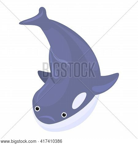 Character Killer Whale Icon. Cartoon Of Character Killer Whale Vector Icon For Web Design Isolated O