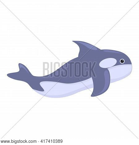 Mammal Killer Whale Icon. Cartoon Of Mammal Killer Whale Vector Icon For Web Design Isolated On Whit