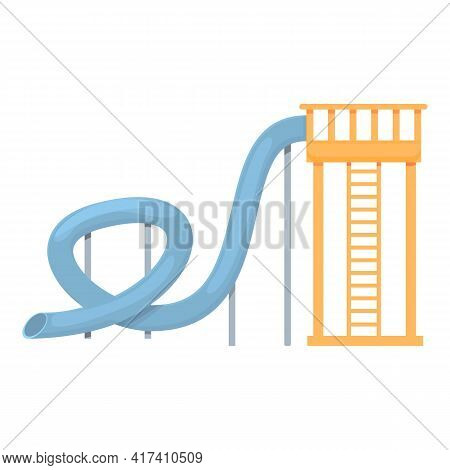 Water Park Amusement Pipe Icon. Cartoon Of Water Park Amusement Pipe Vector Icon For Web Design Isol