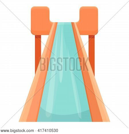 Water Park Speed Slide Icon. Cartoon Of Water Park Speed Slide Vector Icon For Web Design Isolated O