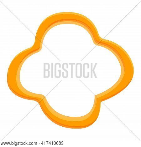 Top View Slice Paprica Icon. Cartoon Of Top View Slice Paprica Vector Icon For Web Design Isolated O