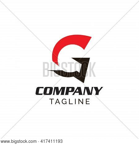 Letter G Gladiator Logo. Simple Modern And Strong, This Logo Can Be Used For Youtube Channel, Sport