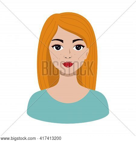 Beautiful Blonde Woman With Makeup. Avatar For A Beauty Salon. Vector Illustration In The Cartoon St
