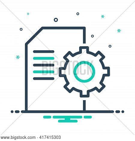 Mix Icon For Contents-management Contents Management Document Cms Database Website Technology