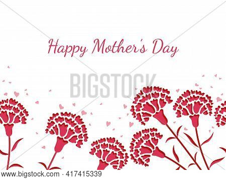 Seamless Vector Background Illustration With Text Space For Mother's Day, Valentine's Day, Bridal, E