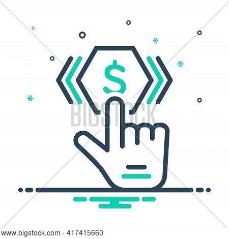 Mix Icon For Pay-per-click Pay Per Click Subscribe Optimization Emblem