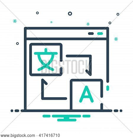 Mix Icon For Translation-localization Translation Localization Language Communication Translator Sym
