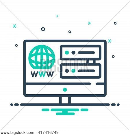 Mix Icon For Web-hosting Web Hosting Service Space Registration Technology