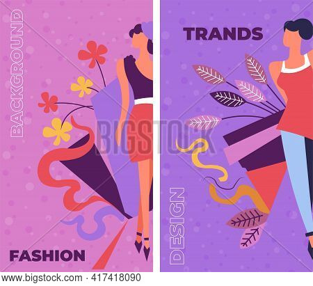 Trends And Fashion, Style And Elegance Banners