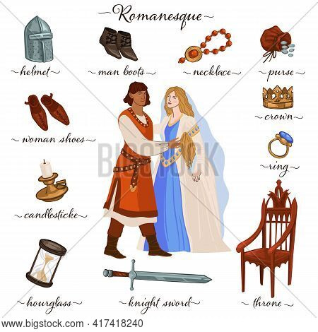 Romanesque Couple And Decor, Culture And Custom